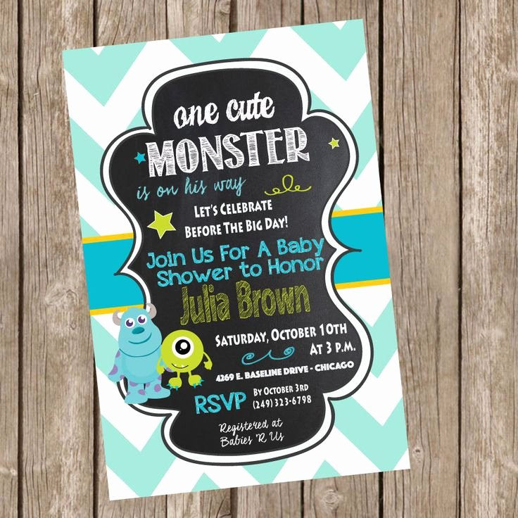 Free Monsters Inc Invitation Template Inspirational Best 25 Monster Baby Showers Ideas On Pinterest