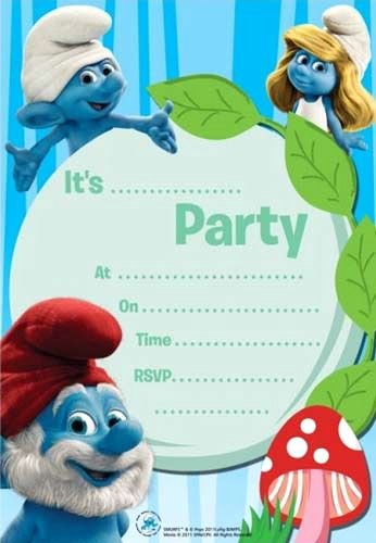 Free Monsters Inc Invitation Template Inspirational Smurfs Invatation Cards Printable Google Search