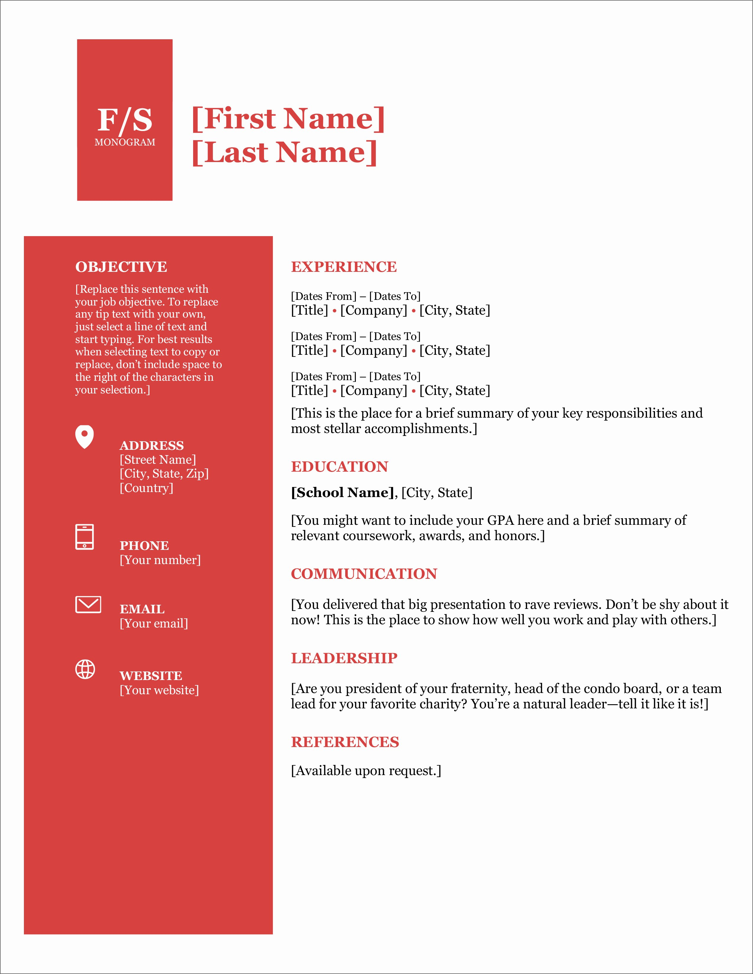 Free Ms Office Resume Templates Awesome 45 Free Modern Resume Cv Templates Minimalist Simple