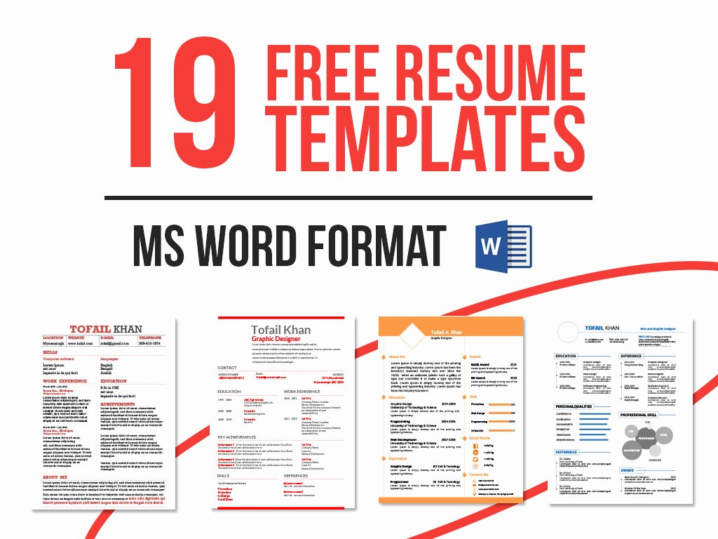 Free Ms Office Resume Templates Best Of 19 Free Resume Templates Download now In Ms Word On Behance