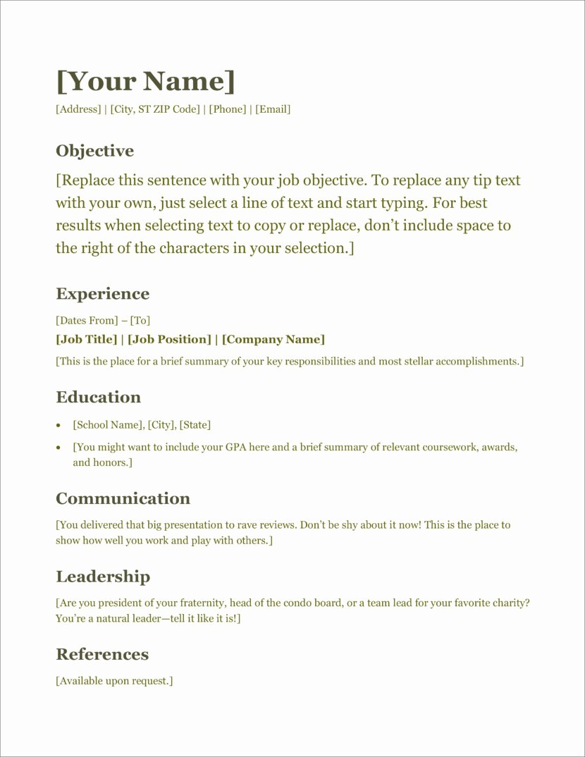 Free Ms Office Resume Templates Best Of 45 Free Modern Resume Cv Templates Minimalist Simple