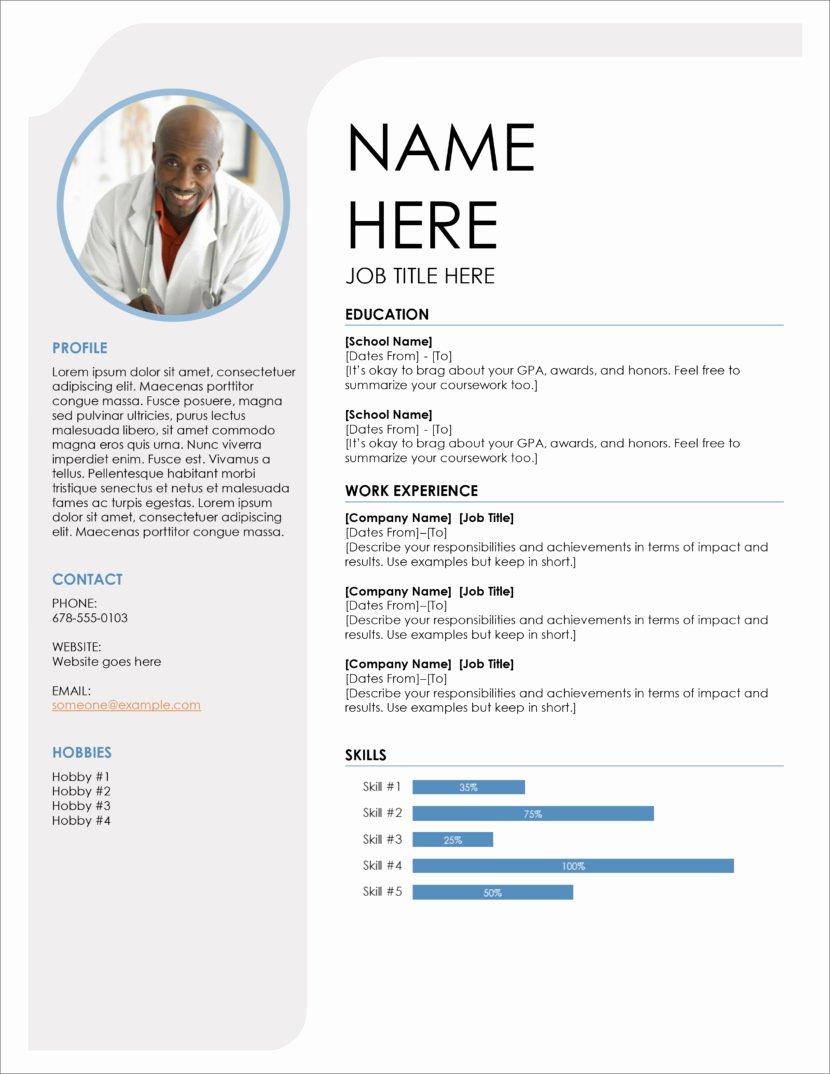 Free Ms Office Resume Templates Inspirational 45 Free Modern Resume Cv Templates Minimalist Simple