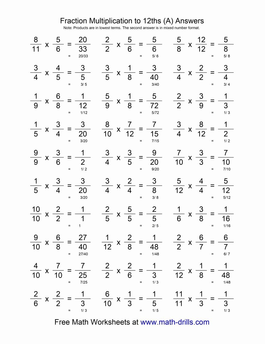 Free Multiplying Fractions Worksheets Fresh Old Fractions Multiplication Worksheets