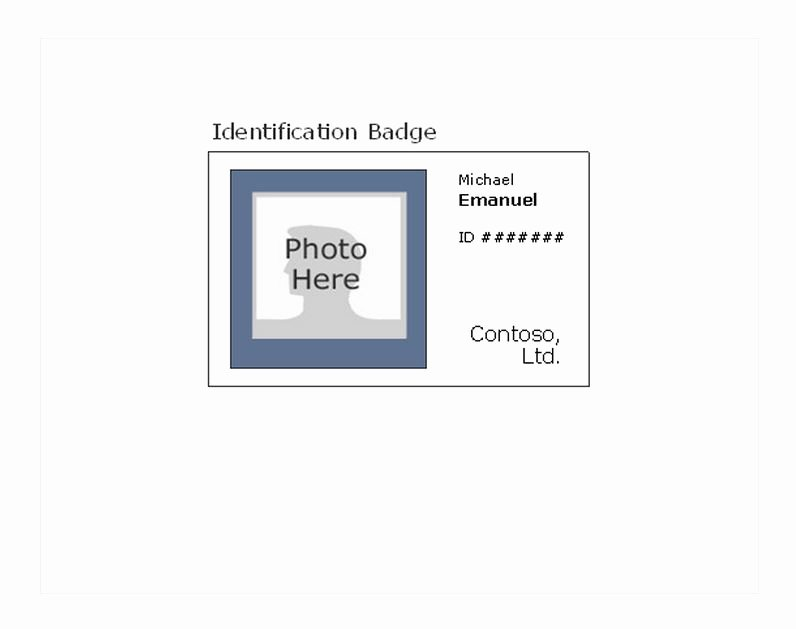 Free Name Tag Template Word Lovely Id Badge Template Id Badge