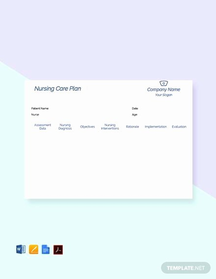 Free Nursing Care Plans Luxury Free Printable Nursing Care Plan Download 815 Plans In