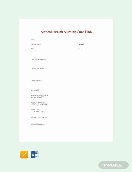 Free Nursing Care Plans Unique Free Printable Nursing Care Plan Download 56 Plans In
