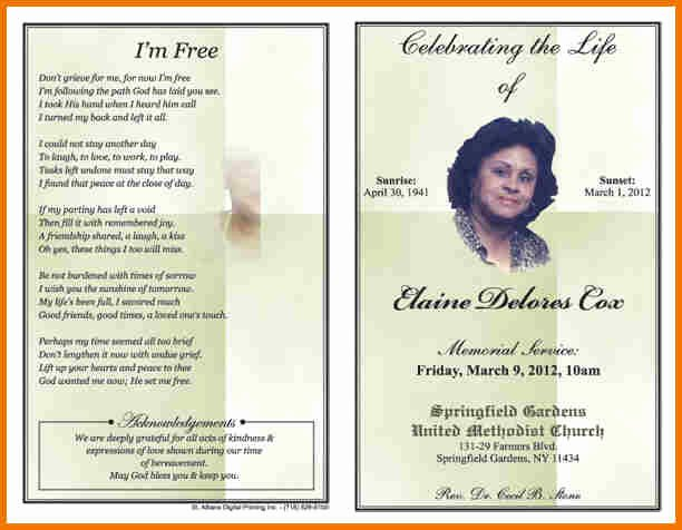 Free Obituary Program Template Beautiful Free Obituary Template