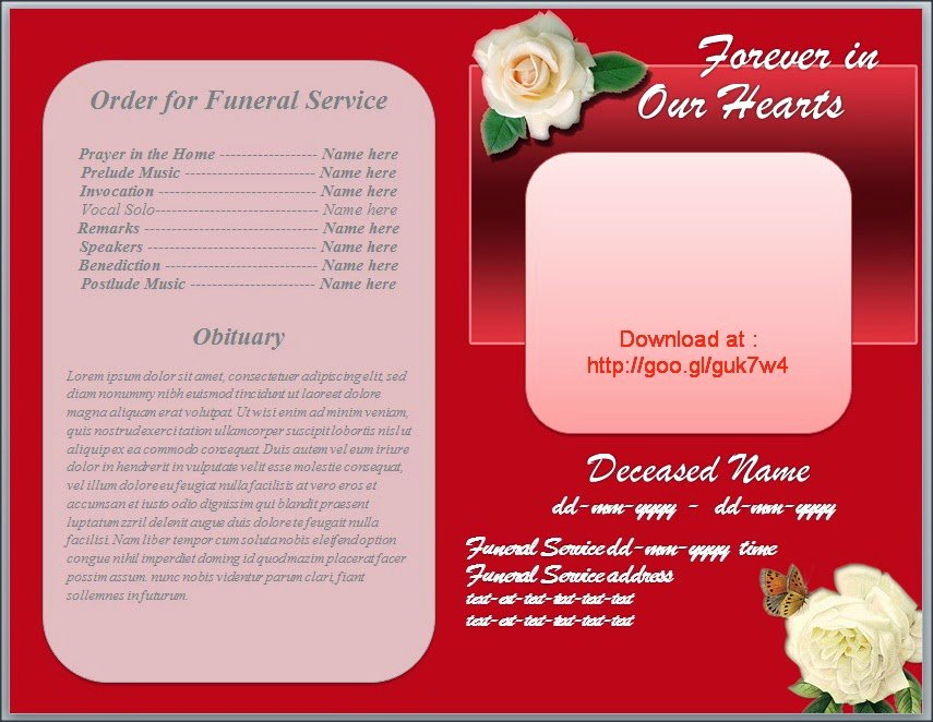 Free Obituary Program Template Beautiful Obituary Background Images Clipground