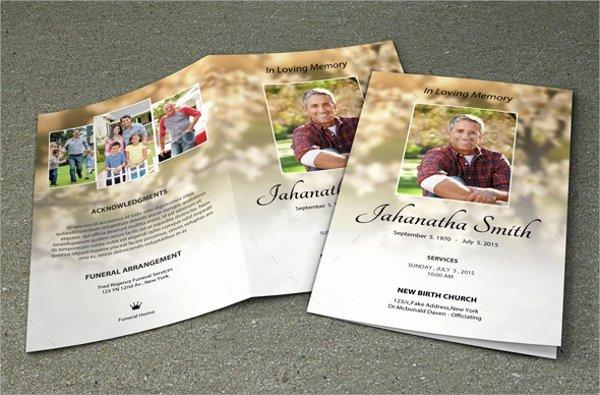 Free Obituary Program Template Elegant Sample Obituary Program Templates 7 Free Documents