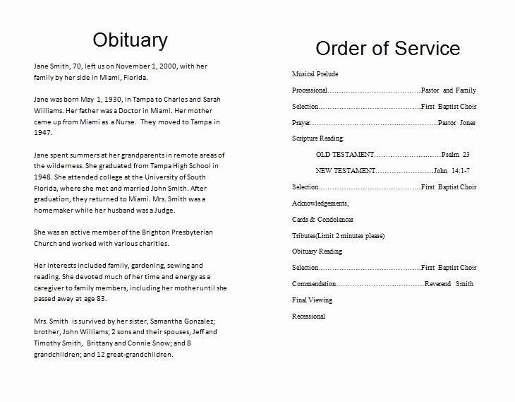 Free Obituary Program Template Elegant the Funeral Memorial Program Blog Free Funeral Program