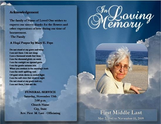Free Obituary Program Template Unique Free Funeral Program Template Microsoft Word