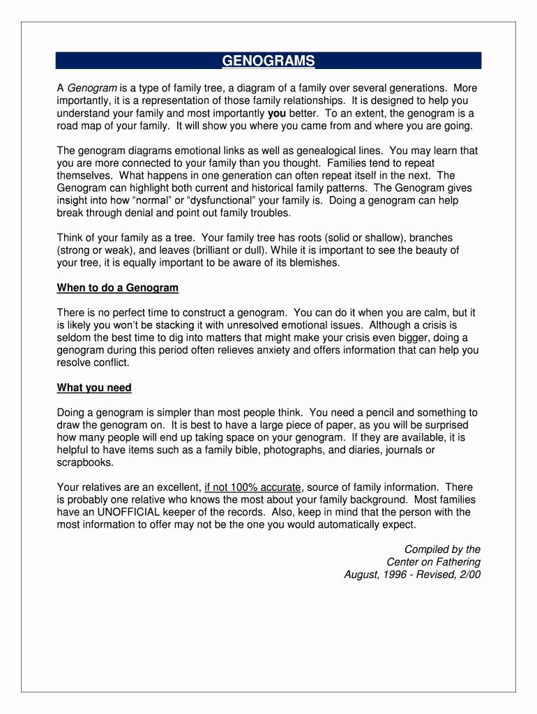 Free Online Genogram Creator Unique Genogram Creator Free Fill Line Printable Fillable