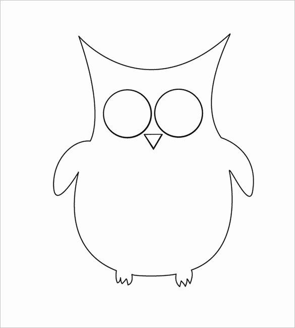 Free Owl Printable Template Beautiful Owl Template Animal Templates