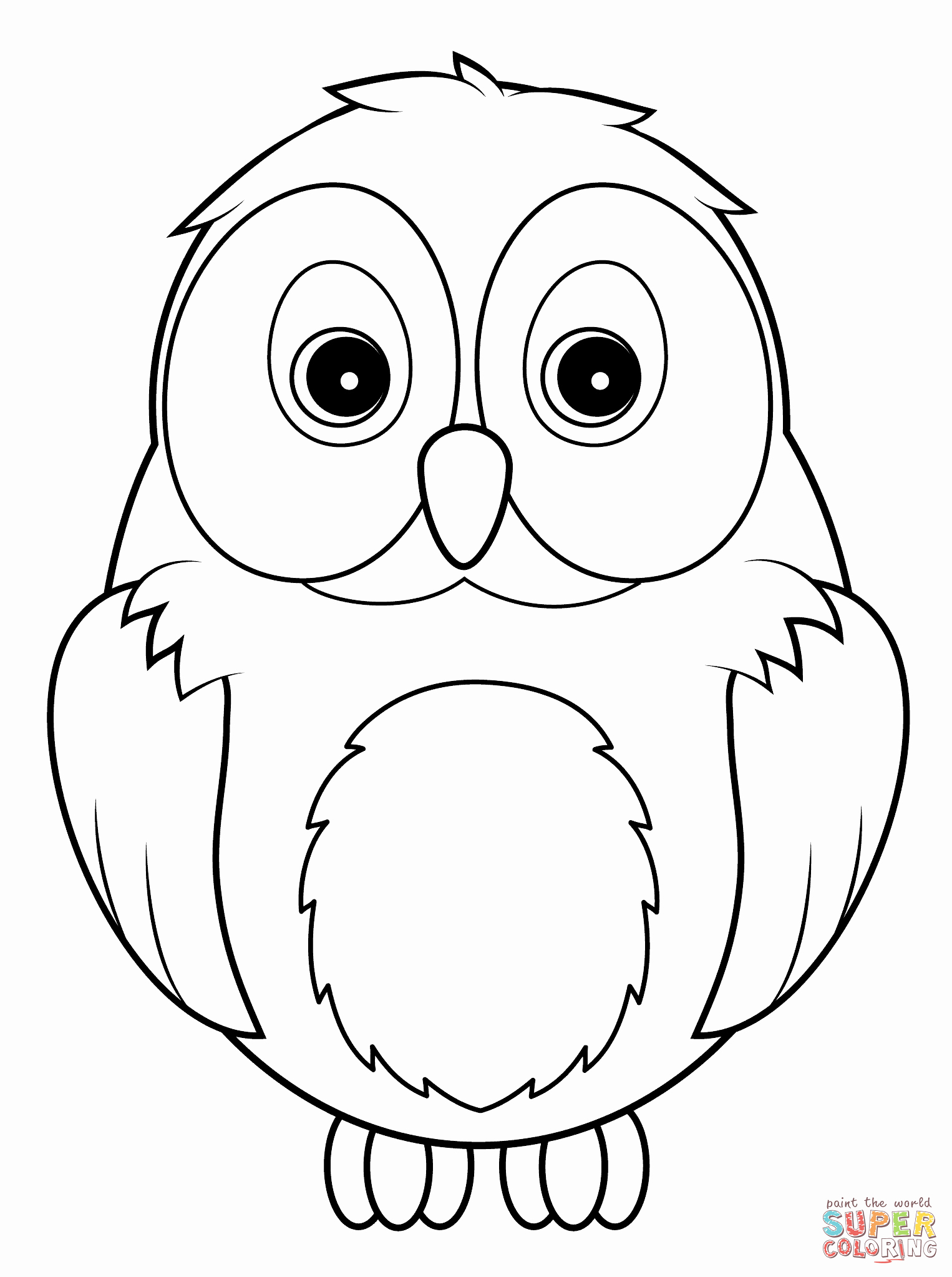Free Owl Printable Template Inspirational Cute Owl Coloring Page