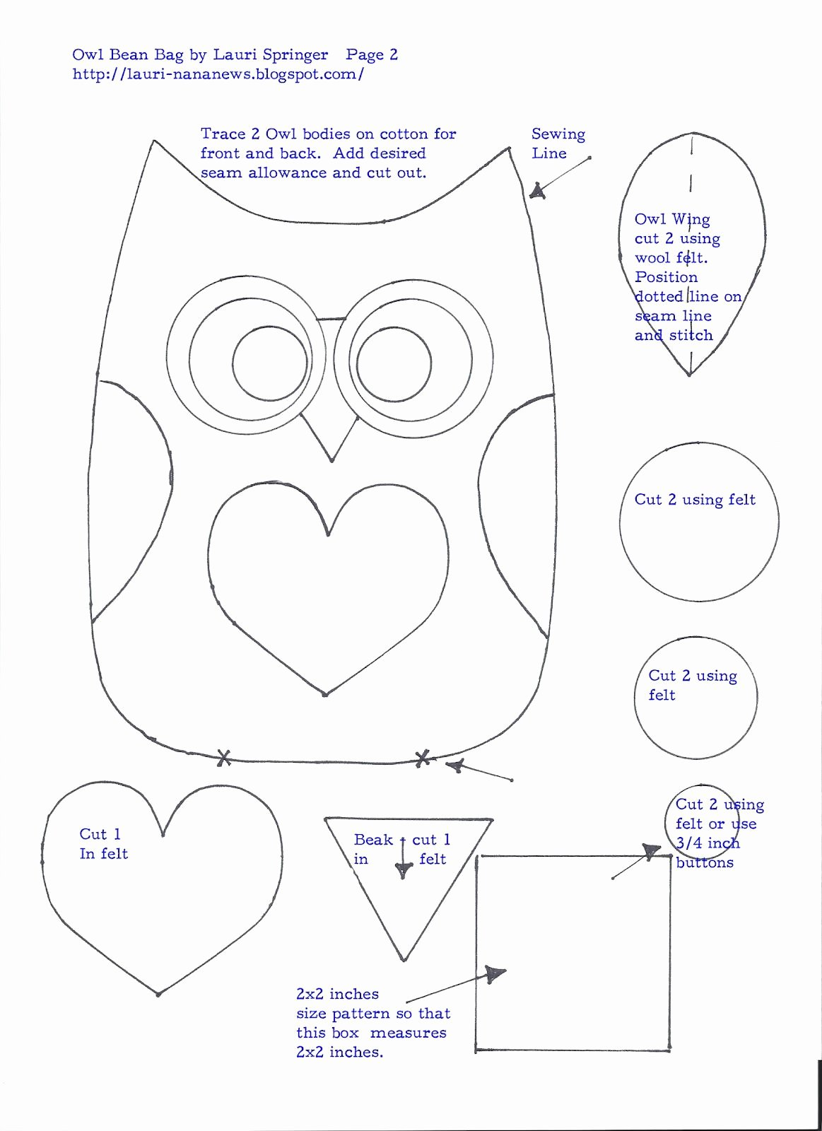 Free Owl Printable Template Lovely Free Owl Pattern Template