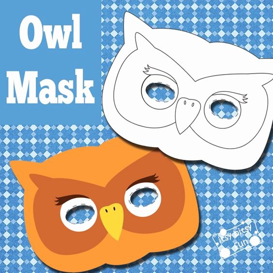 Free Owl Printable Template Lovely Owl Mask and Template to Color