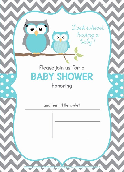 Free Owl Printable Template Luxury Free Owl Baby Shower Invitations