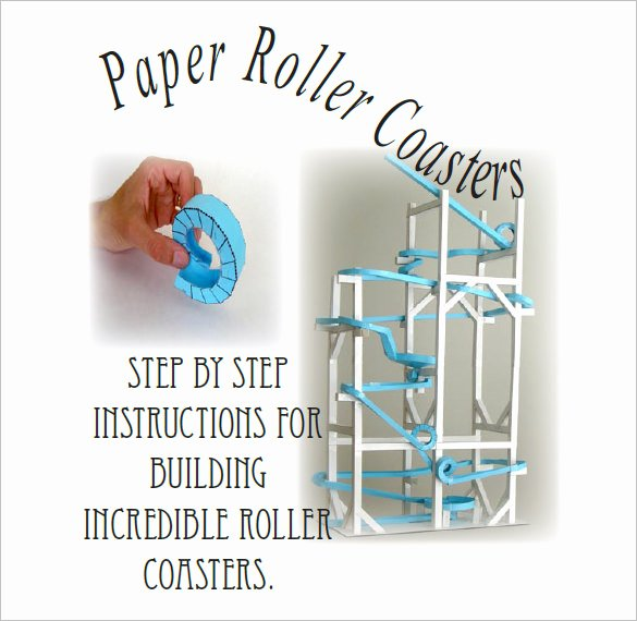 Free Paper Roller Coaster Templates Awesome 7 Paper Roller Coaster Templates – Free Word Pdf