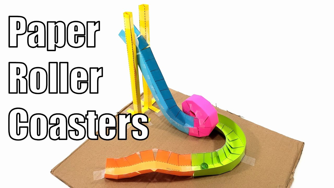 Free Paper Roller Coaster Templates Fresh Paper Roller Coasters Fun Stem Activity