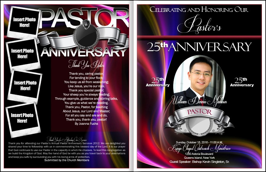 Free Pastor Anniversary Program Templates Beautiful Celebrated Pastor Anniversary Program