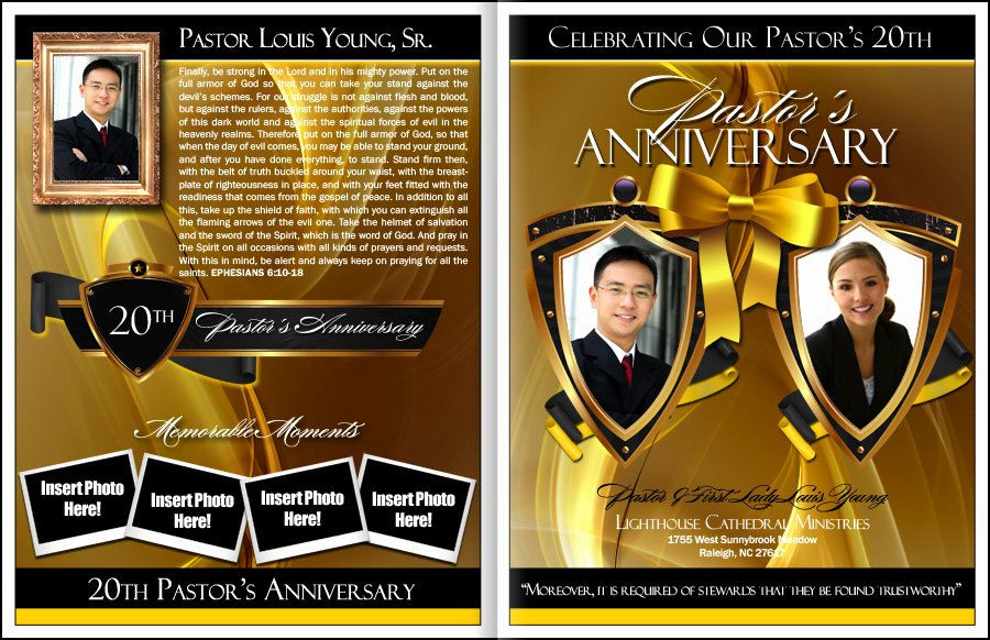 Free Pastor Anniversary Program Templates Fresh Eminence Pastor & Wife Anniversary Program