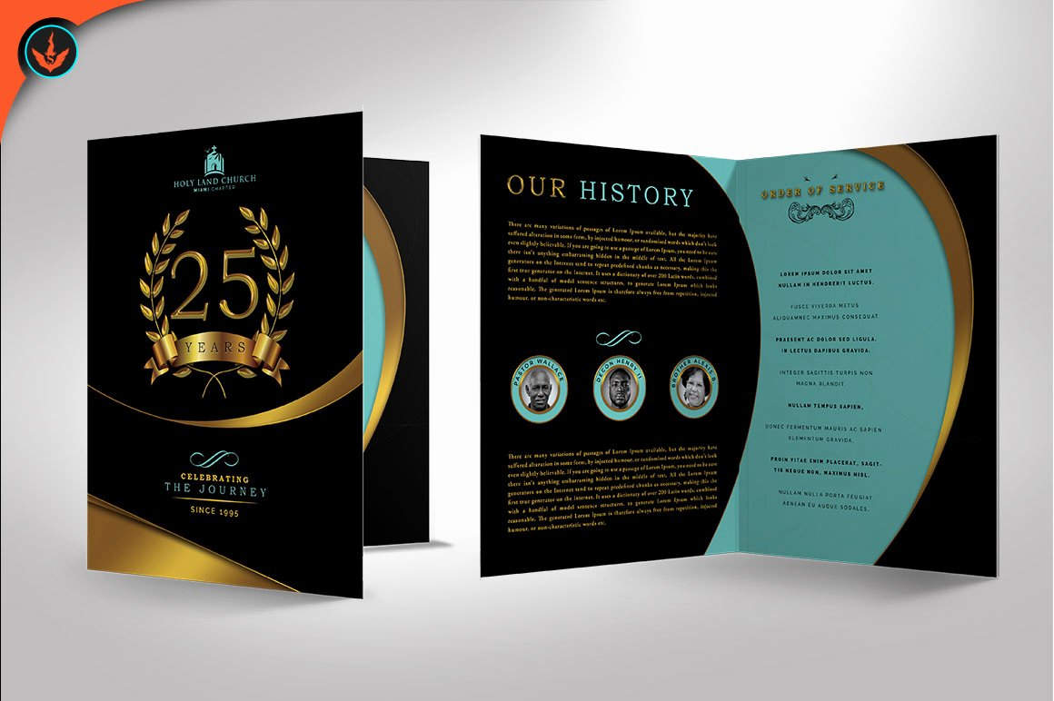 Free Pastor Anniversary Program Templates Fresh Gold Black Plus Teal Anniversary Program Publisher Template