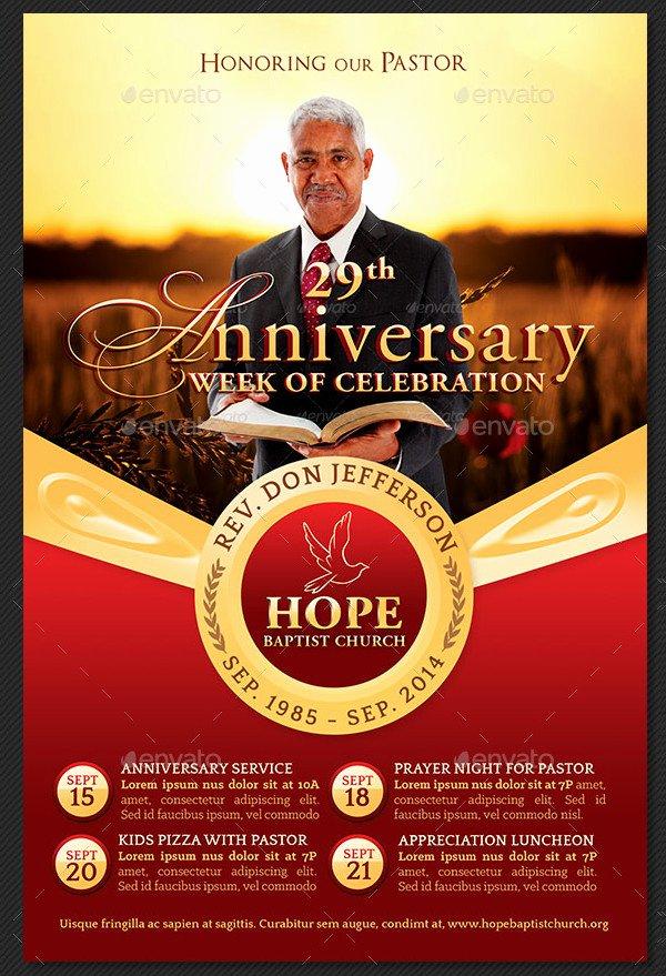 Free Pastor Anniversary Program Templates Fresh Pastor Anniversary Flyer Templates 21 Free & Premium