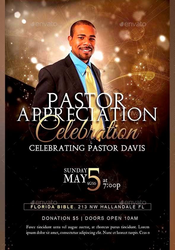 Free Pastor Anniversary Program Templates Fresh Pastor Appreciation Flyer Templates