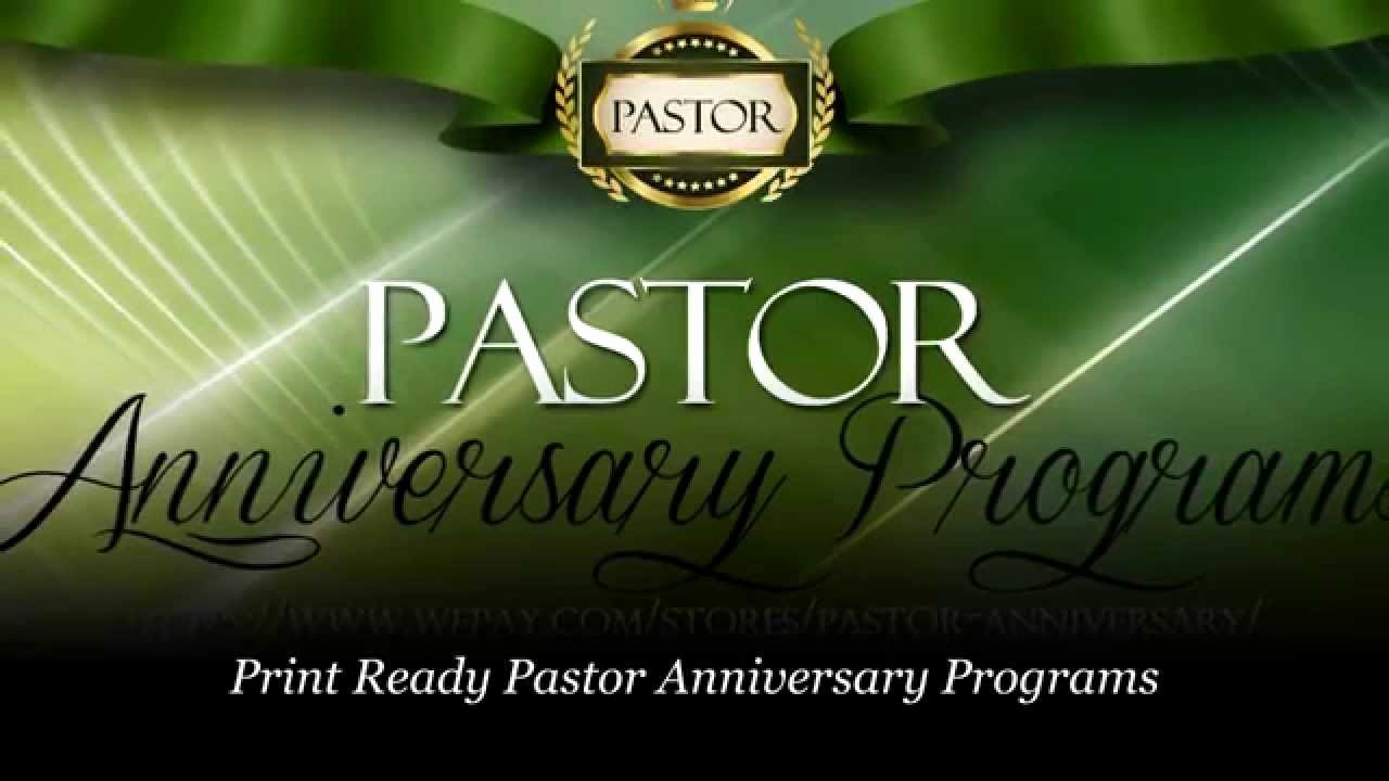 Free Pastor Anniversary Program Templates Inspirational Pastor Anniversary Pastor Appreciation Programs