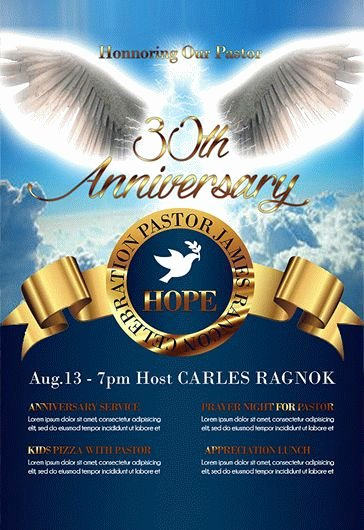 Free Pastor Anniversary Program Templates Luxury Pastor Anniversary Free Brochure Program – by Elegantflyer