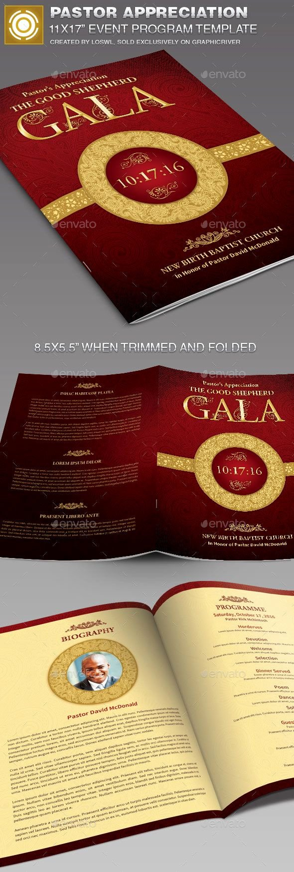 Free Pastor Anniversary Program Templates Luxury Pastor Appreciation event Program Template