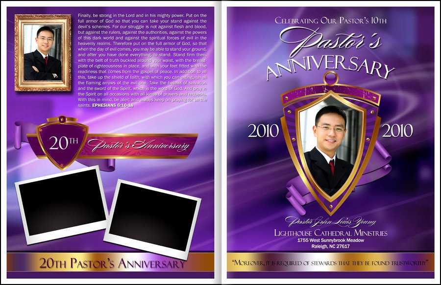 Free Pastor Anniversary Program Templates Unique Majesty Pastor Anniversary Program