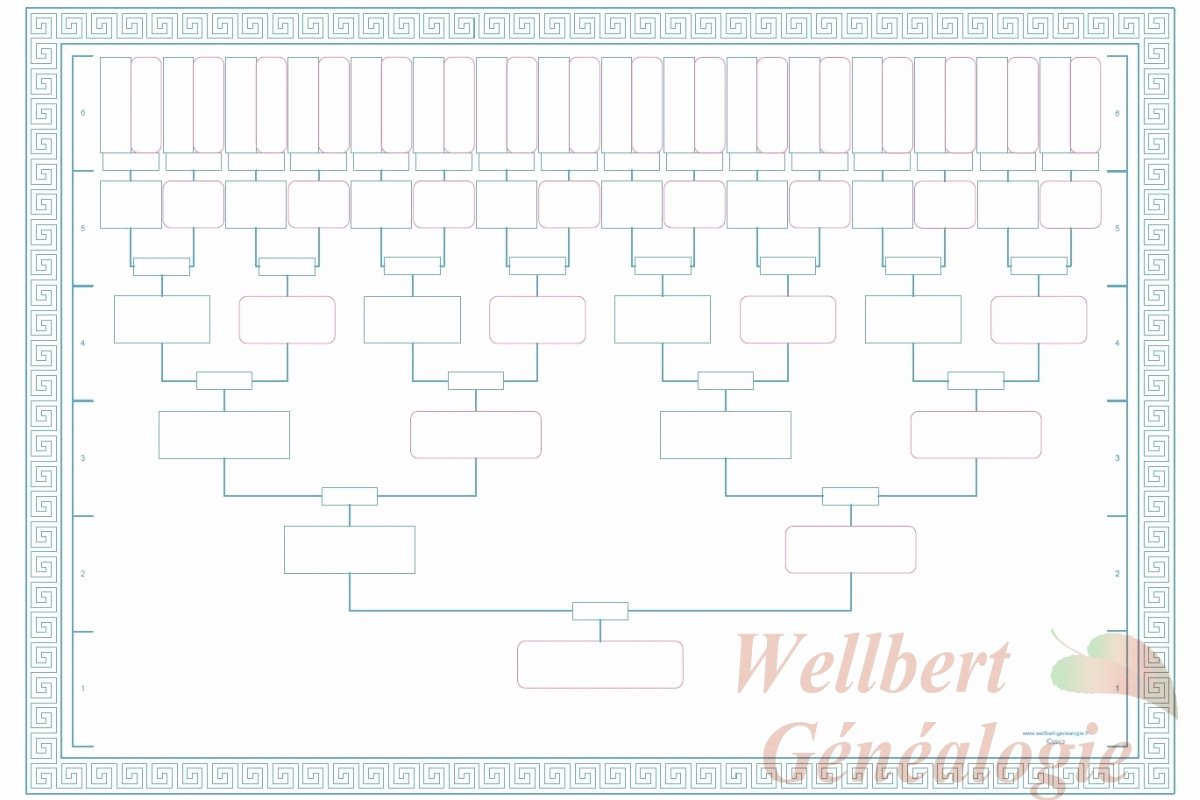 Free Pedigree Chart Template New Printable 6 Generation Pedigree Chart Printable Pages