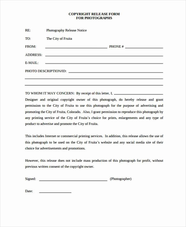 Free Photo Release form Template Awesome Free 38 Release form Templates