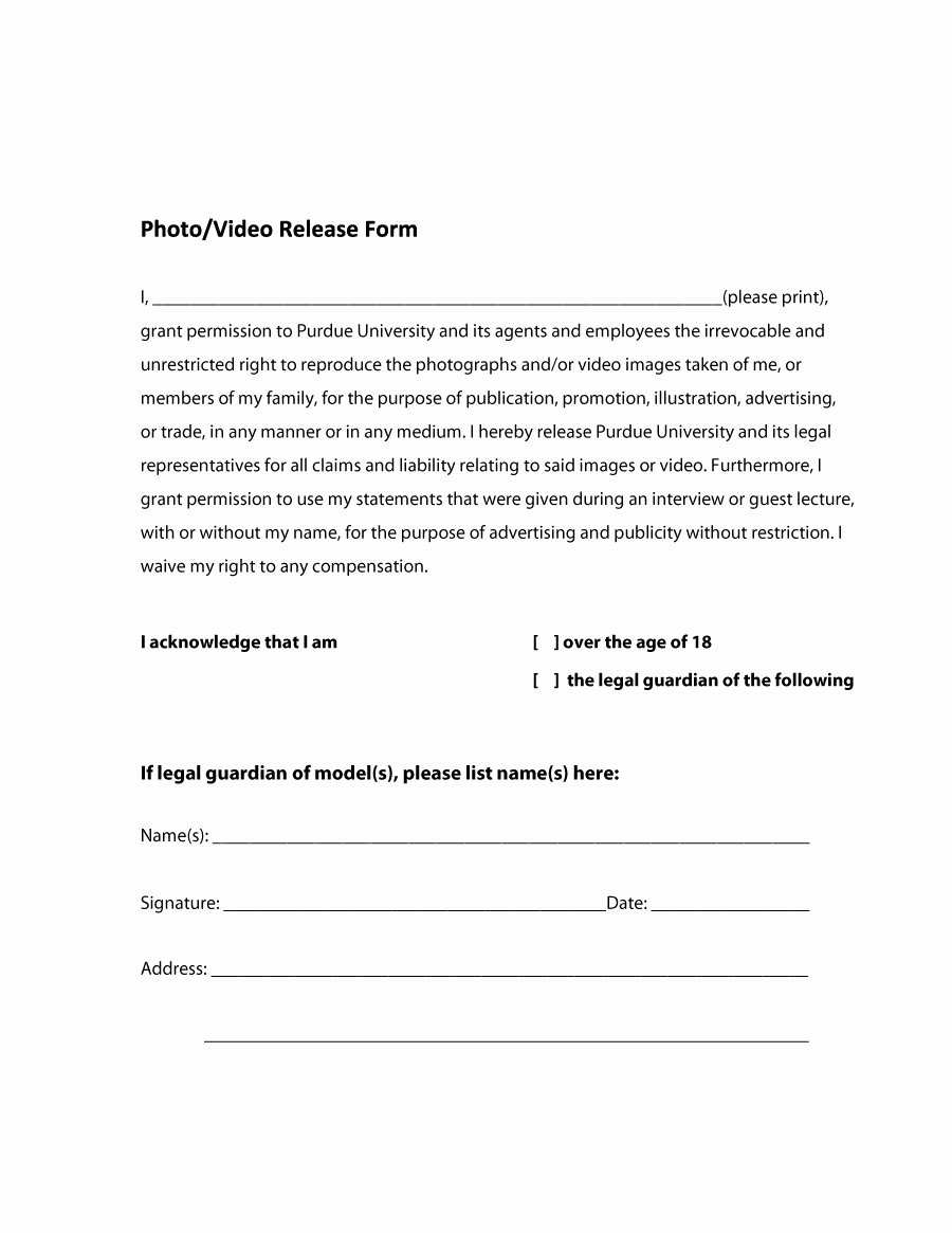 Free Photo Release form Template Unique 53 Free Release form Templates [word Pdf]
