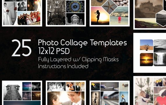 Free Photoshop Storyboard Templates Elegant 12x12 Collage Templates Pack 25 Psd Templates