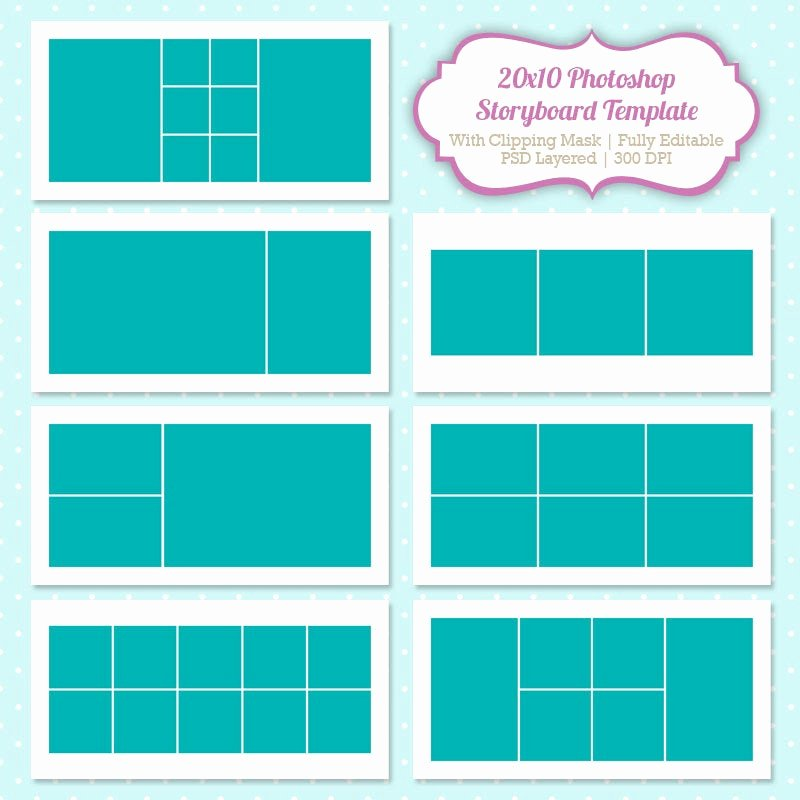 Free Photoshop Storyboard Templates New Instant Download Storyboard Shop Templates by