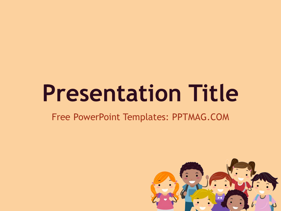 Free Powerpoint Templates for Kids Awesome Free Children Powerpoint Template Pptmag