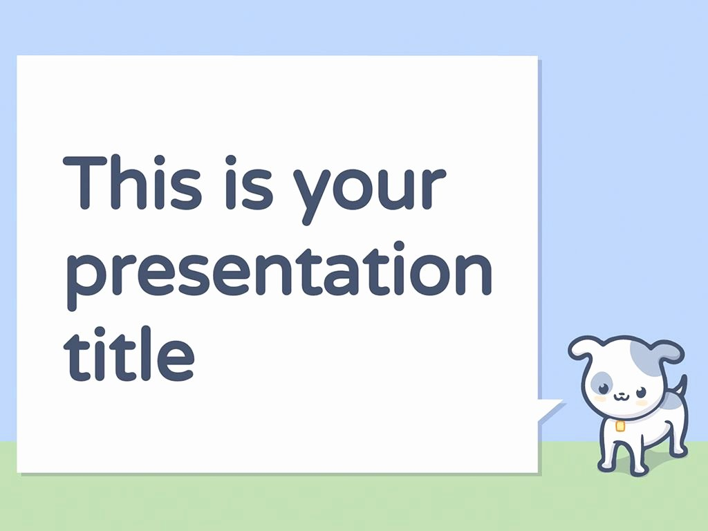Free Powerpoint Templates for Kids Beautiful Free Powerpoint Template or Google Slides theme with Pets