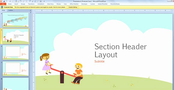 Free Powerpoint Templates for Kids Best Of Free Children Powerpoint Template with Cartoons for