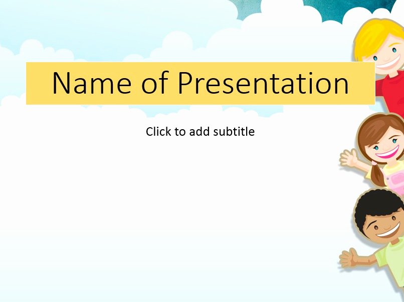 Free Powerpoint Templates for Kids Elegant Free Kids Powerpoint Templates