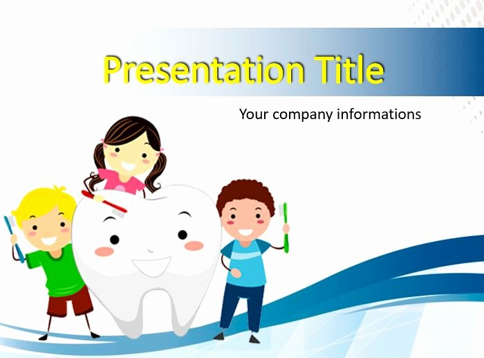 Free Powerpoint Templates for Kids Elegant Kids Brushing A tooth Powerpoint Templates Free Ppt
