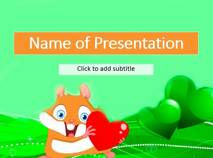 Free Powerpoint Templates for Kids New A Funny Hamster Free Kids Powerpoint Templates