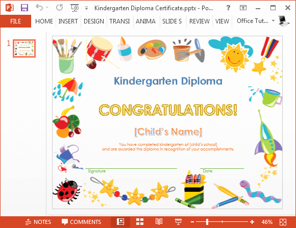Free Powerpoint Templates for Kids New How to Make A Printable Kindergarten Diploma Certificate