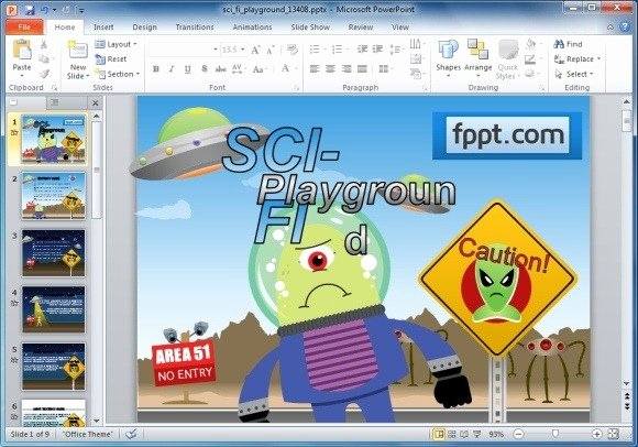 Free Powerpoint Templates for Kids Unique Animated Sci Fi Powerpoint Template for Kids & Educational