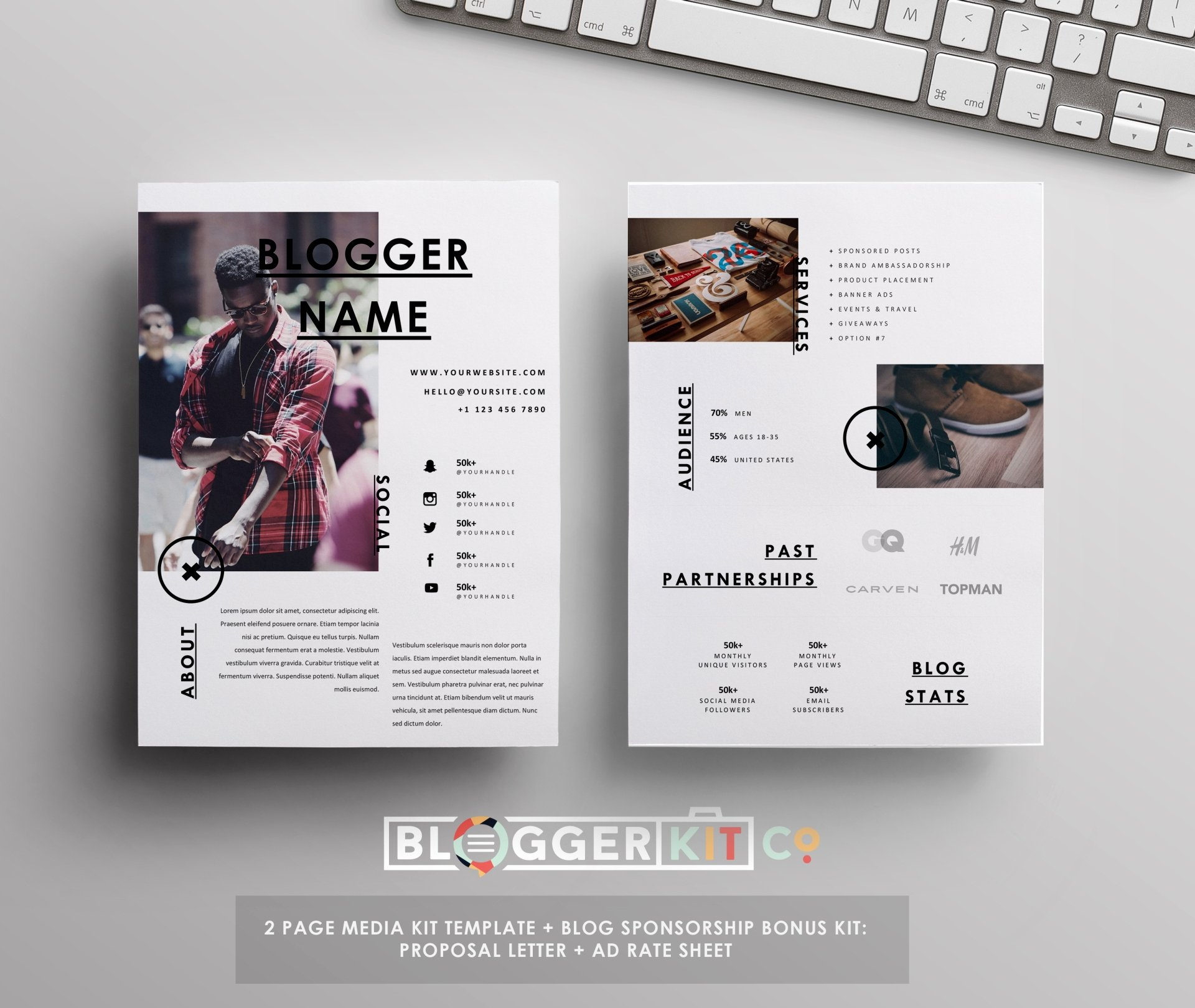 Free Press Kit Template Awesome Influencer Media Kit Template Ad Rate Sheet Blog