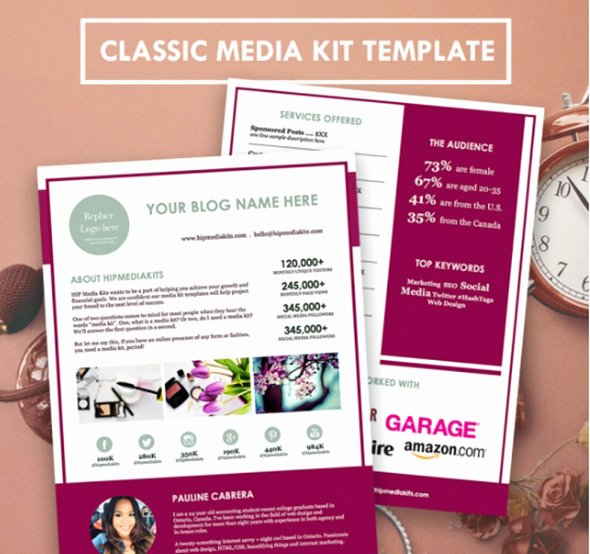Free Press Kit Template Elegant 20 Beautiful Media Kit Designs for Bloggers and Website Owners