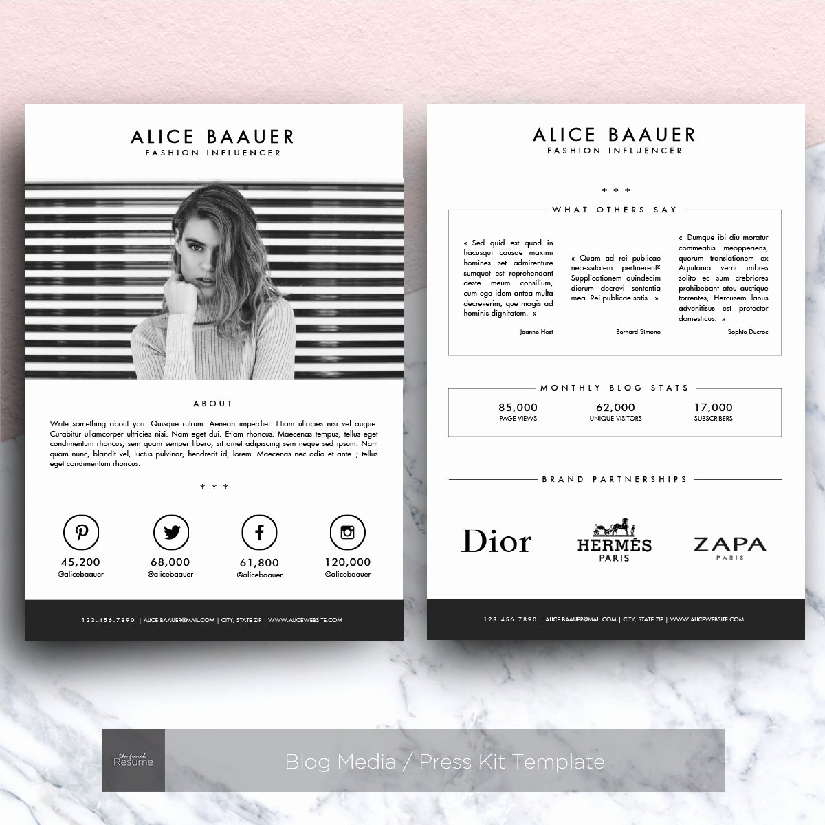 Free Press Kit Template Luxury Blog Media Press Kit Template Other Presentation