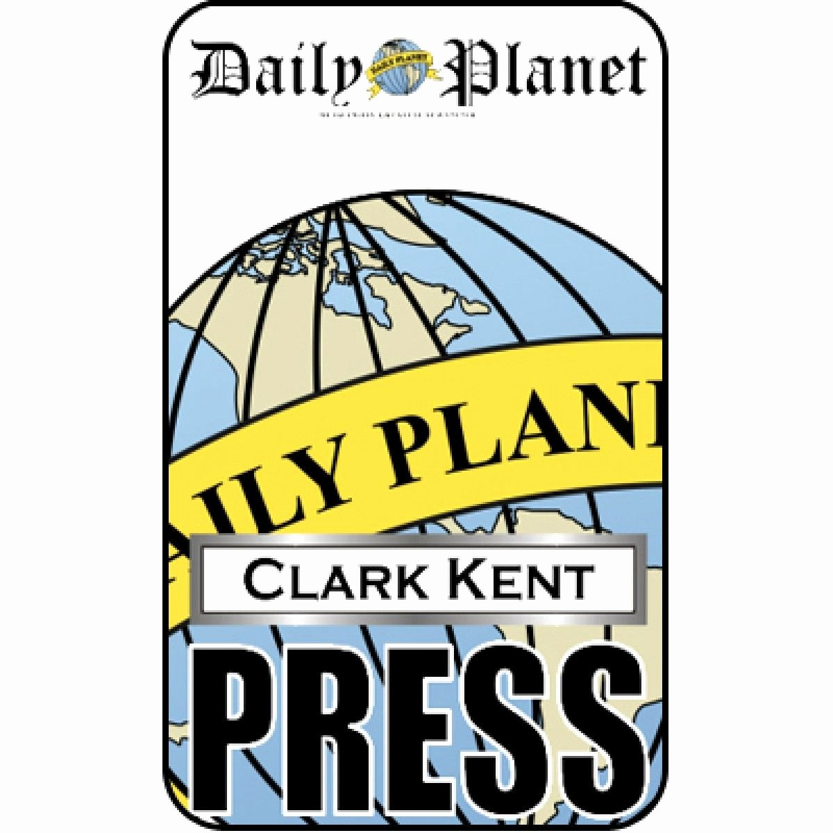 Free Press Pass Template Awesome Clark Kent Press Pass Daily Planet Halloween