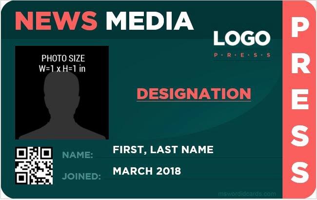 Free Press Pass Template Beautiful 10 Best Press Reporter Id Card Templates
